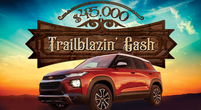 $45,000 Trailblazin' Cash web